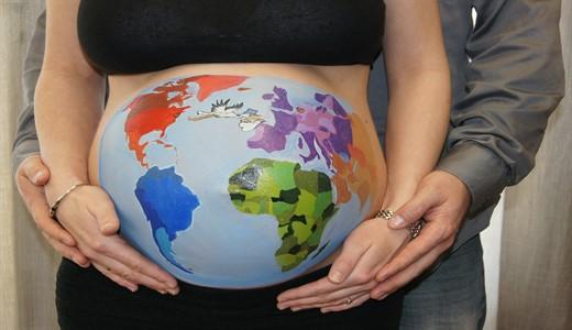 Объем живота при беременности