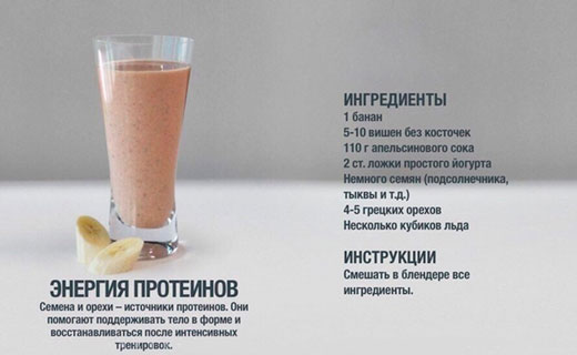 протеиновые коктейли