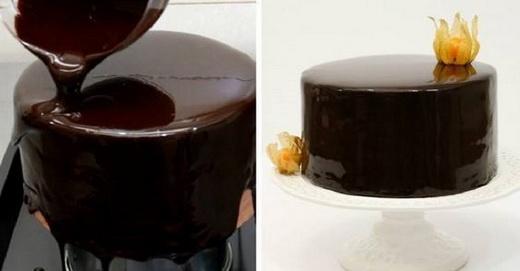 Глазурь из шоколада для торта