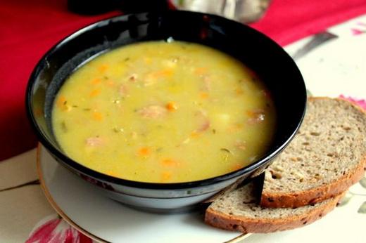 Рецепт горохового супа с копченостями в мультиварке пошаговый