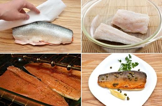 Приготовление рыбы голец в духовке