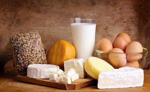 яйца и кисломолочные продукты