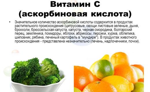 как избежать недостатка витамина с