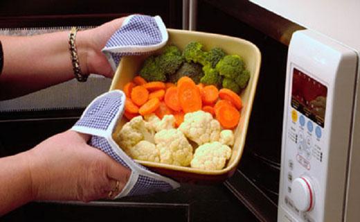микроволновая печь на  вегетарианской кухне