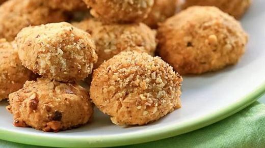 Печенье на газу с орешками