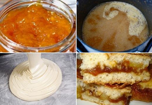 Приготовление песочного пирога с вареньем на скорую руку