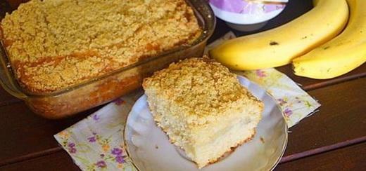 Пирог с лимоном банановый