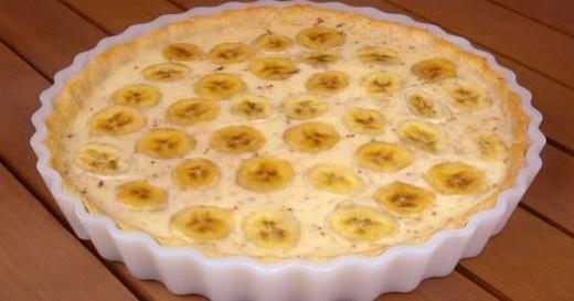 Кремовый пирог с банановой начинкой