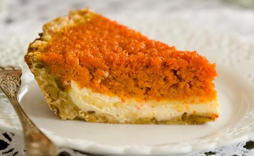 Пирог с апельсинами морковный