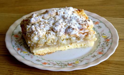 Пирог песочный с яблоками
