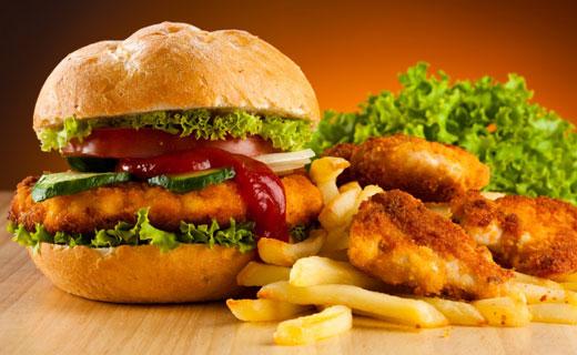пища в ресторанах быстрого питания