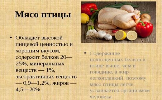 полезные свойства курицы и индейки