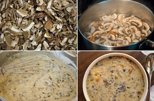 Как сделать подливу грибную из сухих грибов