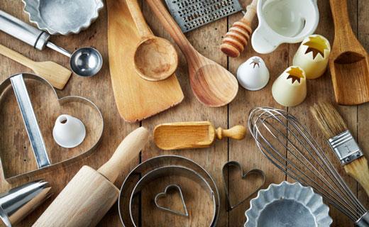 принадлежности на  вегетарианской кухне