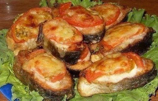 Красная рыба с помидорами в духовке рецепты пошагово