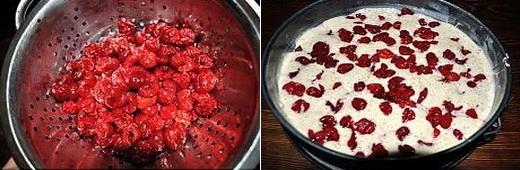 Приготовление шарлотки с ягодами вишни