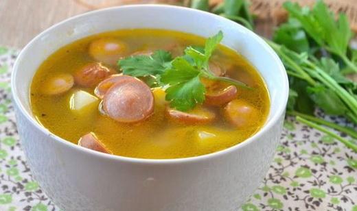 Суп с сардельками и вермишелью рецепт с пошагово в