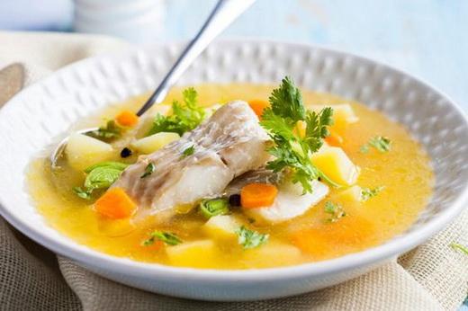 Вкусный суп из сайды