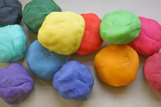 Цветное тесто соленое для лепки