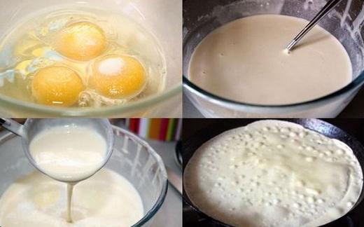 Тесто на простокваше для блинов