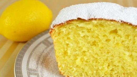 Пирог лимонный с творогом