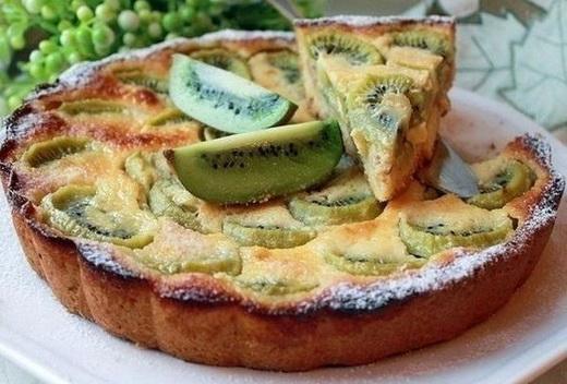 Пирог фруктовый с творогом