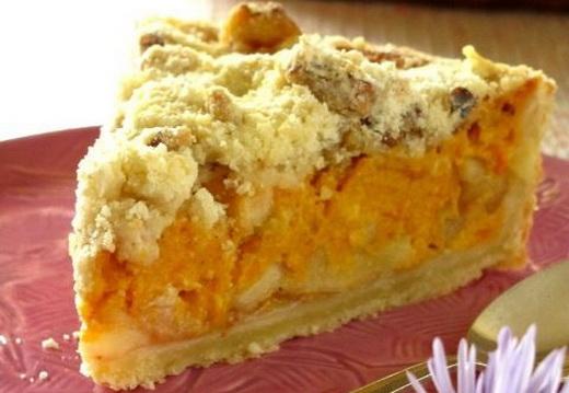 Пирог с печеньем из тыквы