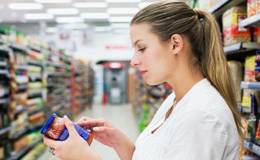 этикетки на продуктах