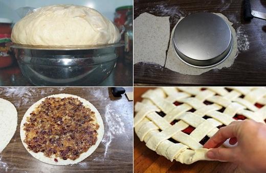 Приготовление пирога с вишней пошагово