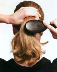 Прическа Узел в волосах - шаг 1