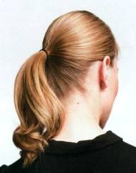 Прическа Узел в волосах - шаг 2