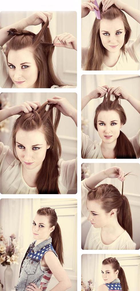 Прически на длинные волосы хвосты своими руками