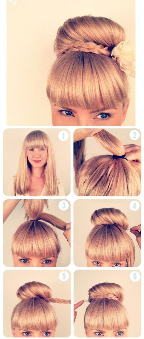 Какую прическу можно сделать с челкой и короткими волосами
