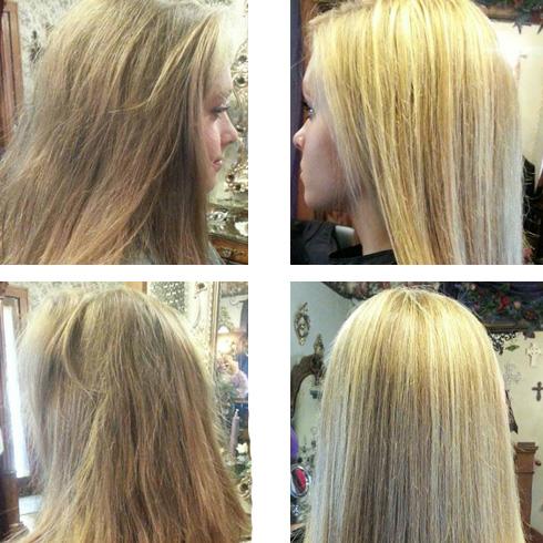 мелирование на короткие волосы до и после фото
