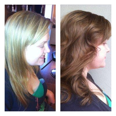 Окрашивание волос колорирование уроки видео