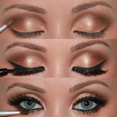 макияж для блондинок вечерний фото