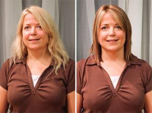 Стрижки для длинных волос и круглого лица фото до и после