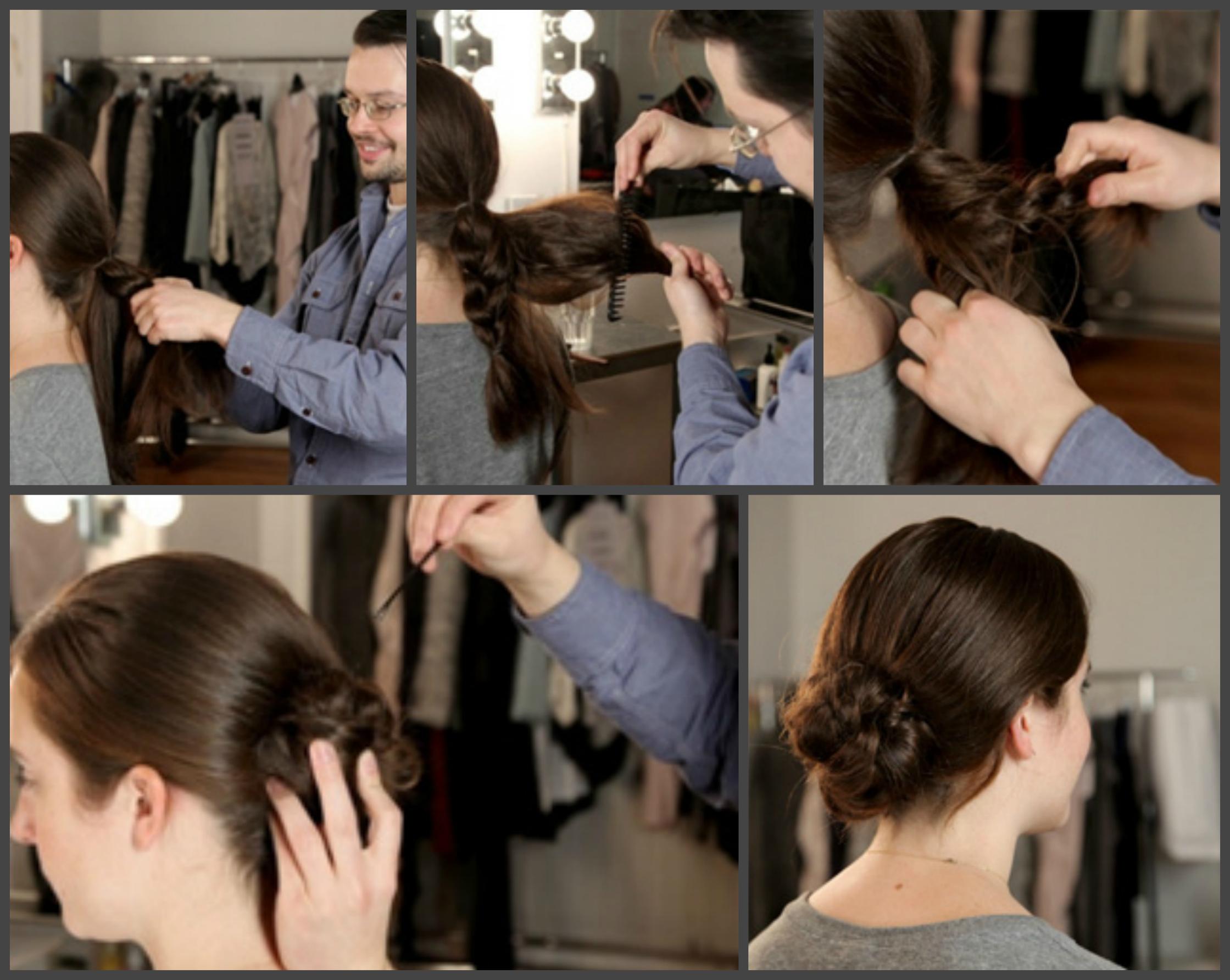 Как заплести косу вокруг узла
