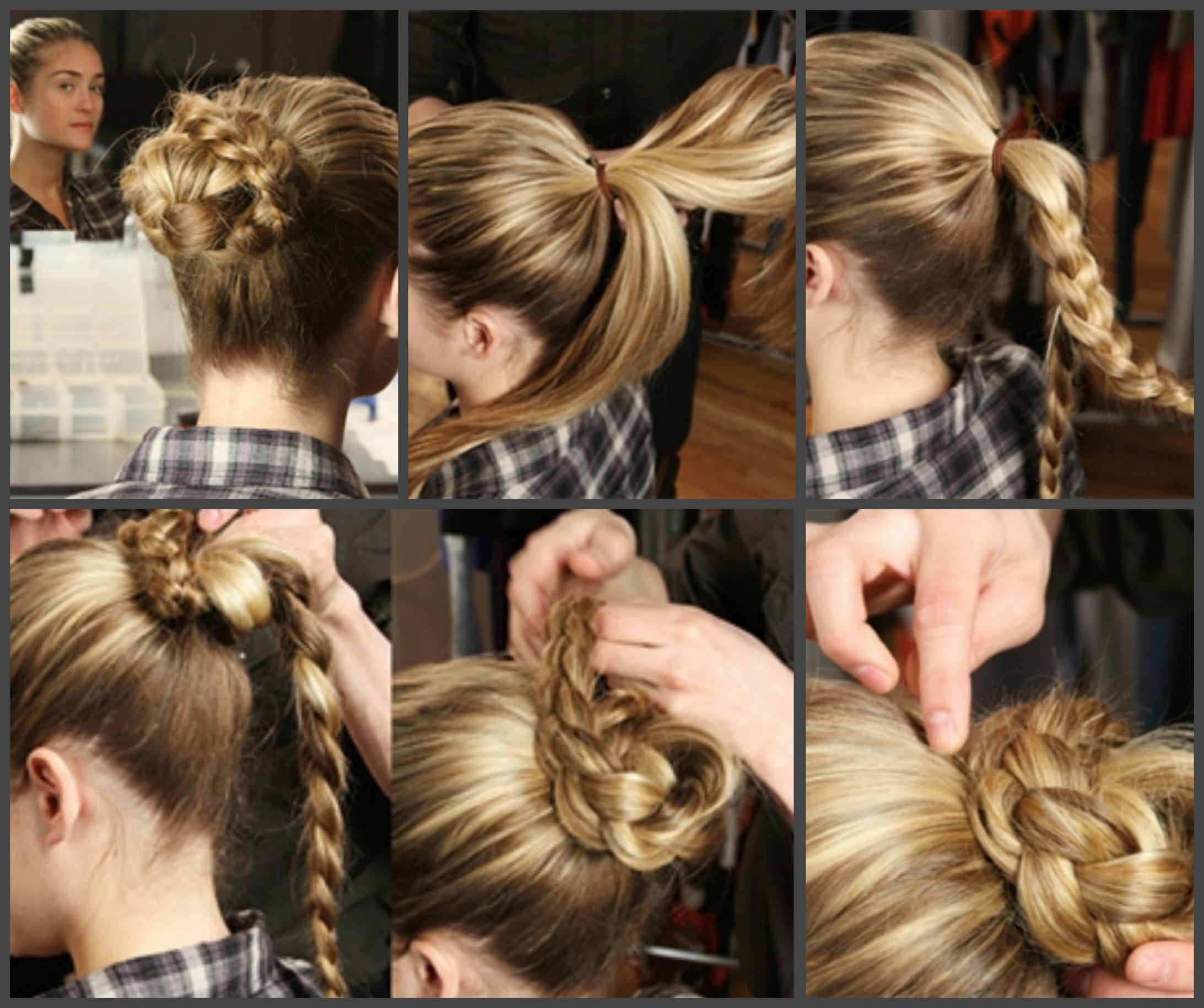 Как заплести косу вокруг пучка