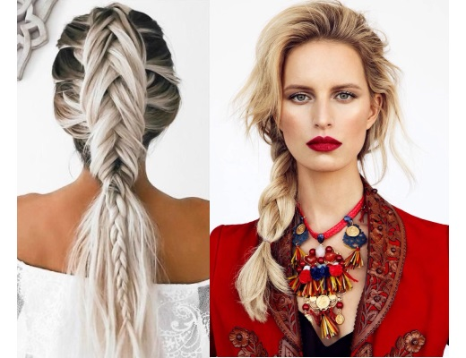 Красивые косы - плетение