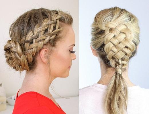 Как заплести себе косу на короткие волосы фото