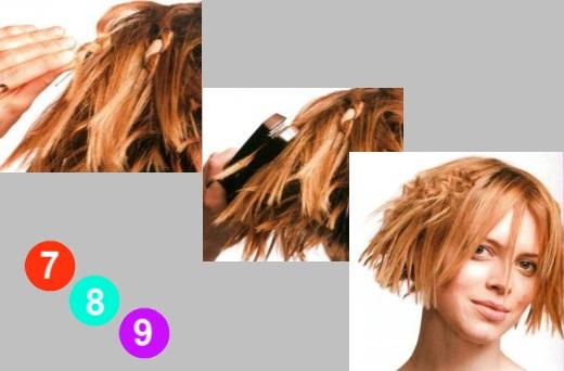 Прическа на короткие волосы прядями своими руками