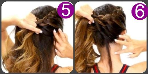 Волосы на бок прически чем закрепить