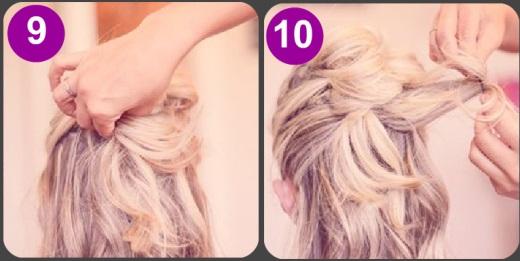 Скрепляем волосы лаком
