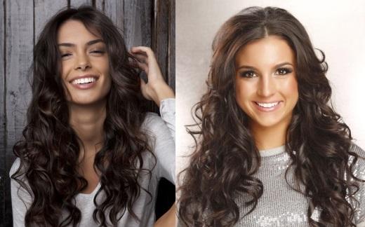 Как создать объем волнистым волосам