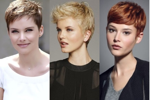 Причёска женская полубокс