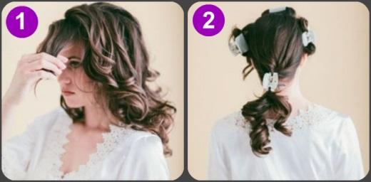 Делим волосы на 4 зоны