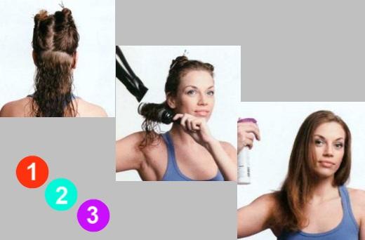 Укладка волнистых волос пошагово