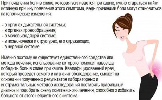 При кашле болит спина в пояснице