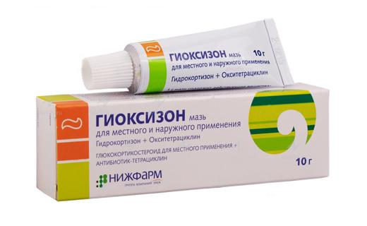 окситетрациклин гидрокортизон